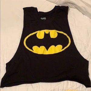 Tops - Batman muscle crop top size M